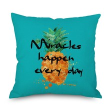 Hot 45*45 Fruit Pillow Case Home Decor Cushion Cover Pineapple Throw Pillowcase Covers Free Shipping
