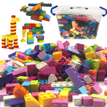 With Box 1000 Pieces 500 Pieces Building Blocks Set City DIY Bricks Compatible Legoes Bricks Bulk Figures Toy for Children Gift diy building blocks bricks my world compatible legoed minecrafted set steve alex reuben figures city toy for children
