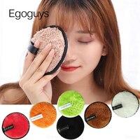 Esponja de microfibra para quitar maquillaje, almohadillas faciales de algodón Multicolor, esponja cosmética para polvos, lavado de cara, 1 ud.
