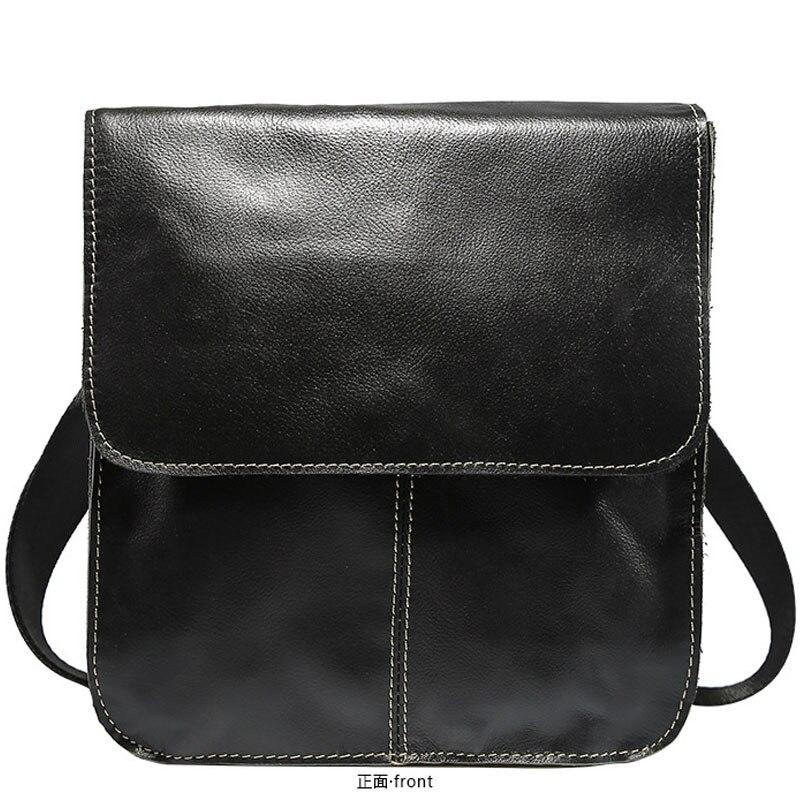 Echtes Leder Schulter Tasche für Männer Messenger Hand Tasche Männlichen Business Aktentasche Crossbody Mini Handtasche Vintage Klappe Casual Tote