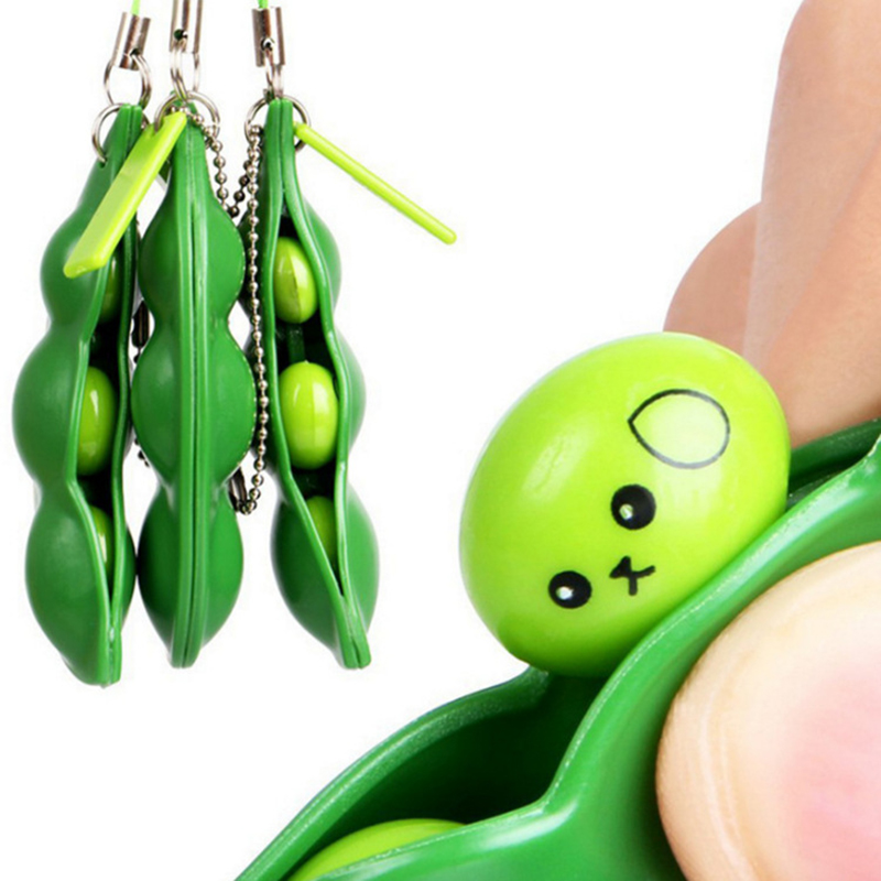 Adult Toy Fidget-Toys Peas-Beans Rubber Gift Stress Decompression Keychain Cute Squeeze img2
