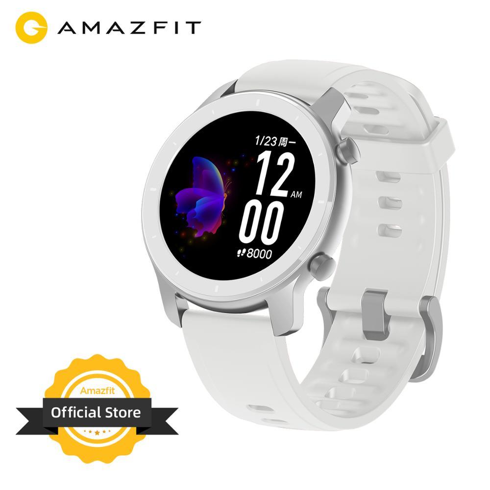 В наличии глобальная версия Новые Amazfit GTR 42 мм женские часы 5ATM Smartwatch 12 дней батарея управление музыкой для Android IOS phone
