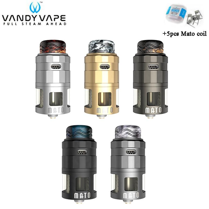 Original Vandy Vape MATO RDTA Tank 5ML VandyVape 4 Steelwire Atomizer Compatible With 510 & Squonk Pin For E-Cig Vape Mod