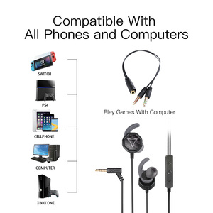 Image 5 - GGMM G1 Earphone Deep Bass Gaming Earphone With Detachable Long Mic Gaming Earphones Clear Sound For PUBG Mobile Phone PC Gamer