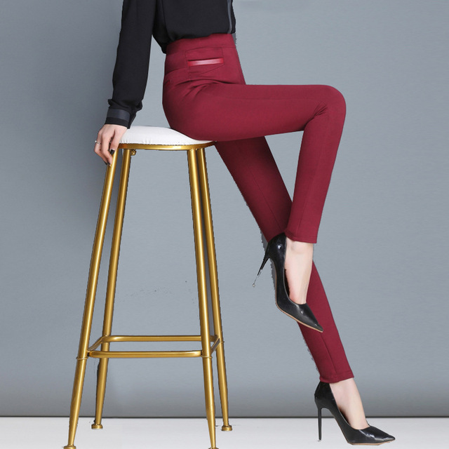 leggings women's outer wear high waist elasticity was thin feet penc pants Korean casual women's trousers streetwear sweatpants
