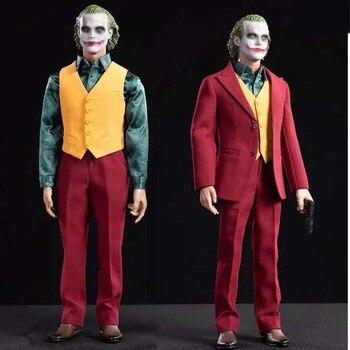 Collection 1/6 Joker Suit Set Comedian Joker Clown Joaquin Toy Center CEN-M13 Exclusive Red Suit Clothes Accessory Toy