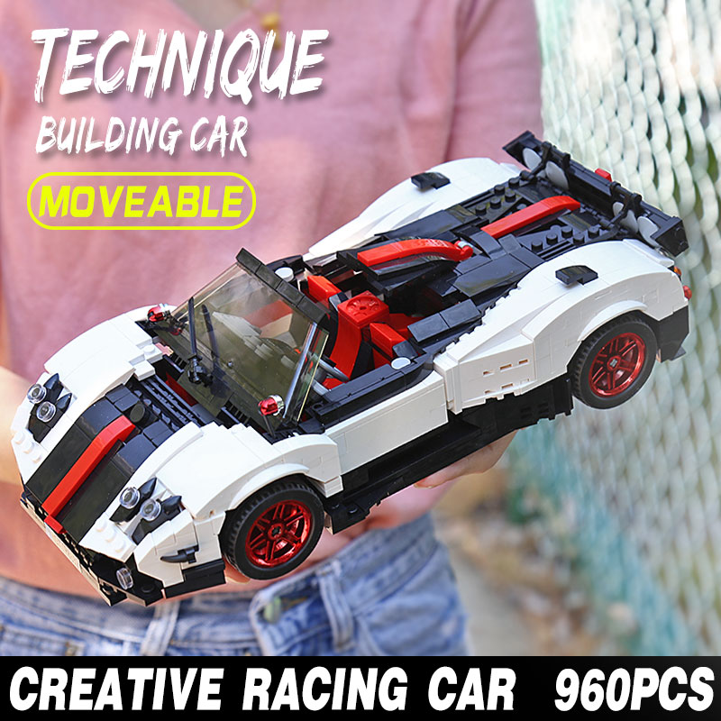 MOULD KING 13105 The MOC-22208 Zonda Cinque Roadster Model Assembly Building Block