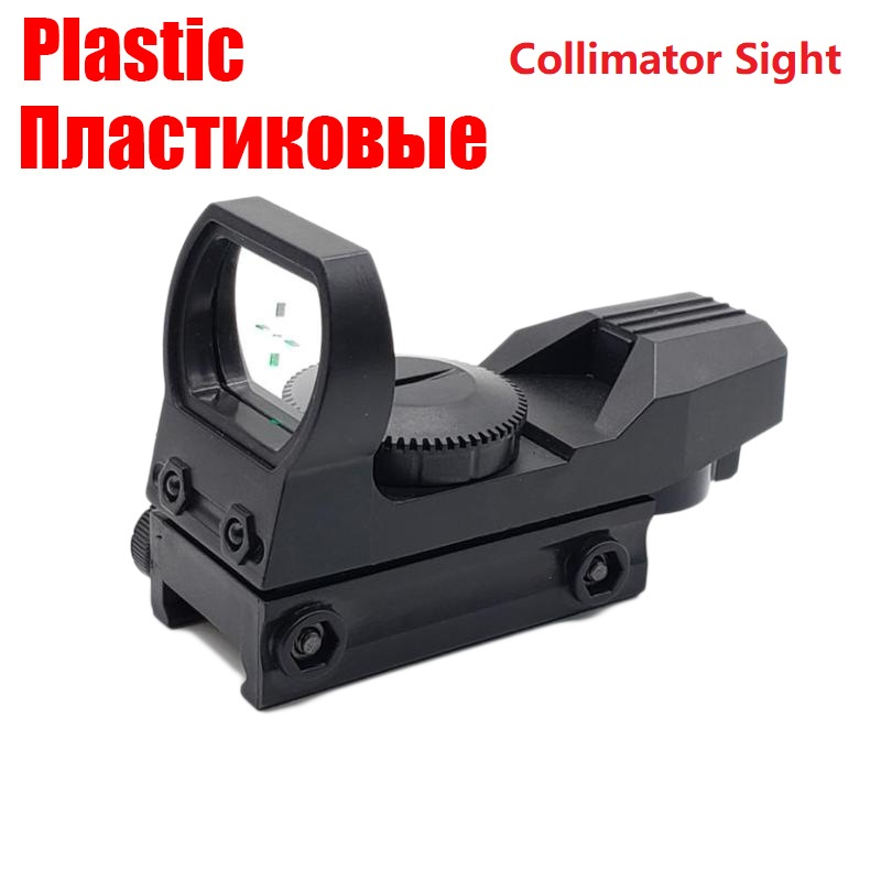 Plastic 20mm Rail Riflescope Hunting Optics Holographic Red Dot Sight Refle Reticle Tactical Scope Collimator Sight Toy Gun Part