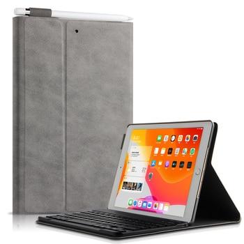 For iPad 10.2 Keyboard Case 7th 6th 5th Generation Wireless Bluetooth Keyboard Case For iPad 9.7 2017 2018 / Air 2 cover
