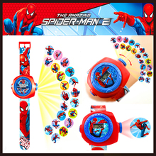 3D Projection Cartoon Pattern Children Watches Kids Toys Gif