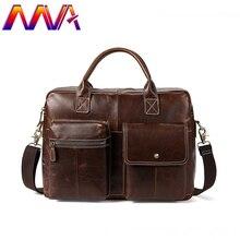 MVA повседневный кожаный портфель натуральная кожа мужская сумка на плечо женский портфель кожаная сумка из коровьей кожи мужской портфель