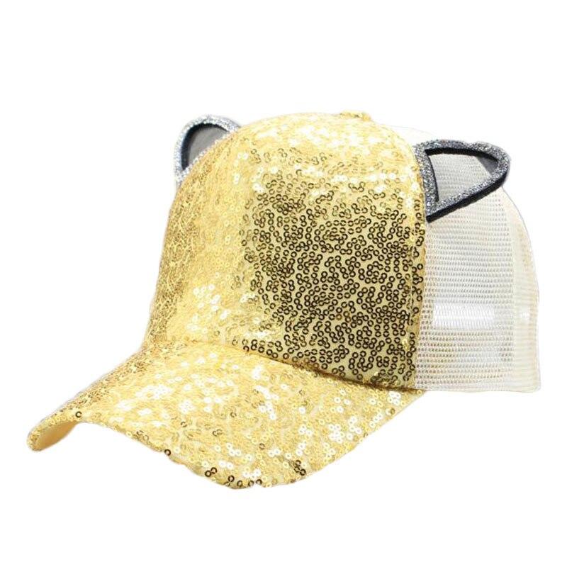 Club Bar Party Dancer Sequins Cap Adults&Children Baseball Cap Glitter Cute Cartoon Shiny Hats Adjustable hats Christmas gift H8