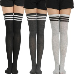 New Arrival Striped Stockings Women Sexy Thigh High Nylon Long Socks Thick Over Knee Socks(China)