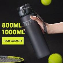 Explosive sports bottle 800/ 1000ML protein shaker outdoor travel portable leak-proof plastic cup beverage