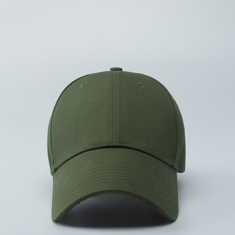 Army Green Baseball Hat Women Outdoors Sun Hat Student Military Training Sport Hats Men Solid Color Big SizePeaked Cap 56-64cm