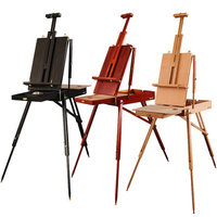 Large Portable Oil Paint Easel For Artist Wooden Easel Painting Stand Sketch Table Drawing Easel Box