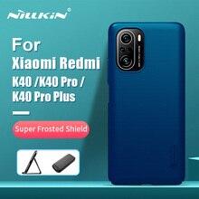 עבור Xiaomi Redmi K40 מקרה Redmi K40 פרו NILLKIN סופר חלבית מגן מט קשיח חזרה כיסוי מתנה מחזיק עבור redmi K40 Pro +