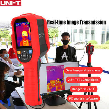 UNI-T Инфракрасный Тепловизор термометр изображения камера 30 ℃ ~ 45 ℃ тестер температуры с ПК программное обеспечение анализ тип-c USB 1