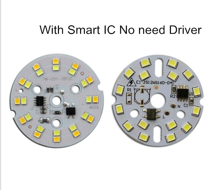 3-5 PÇS/LOTE SMD 2835 LED Lâmpada luz Chip Inteligente IC Poder 220V 3W 5W 7W 9W 12W lâmpadas Led Para interior Projector Branco sem necessidade de driver