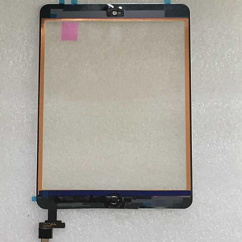 Para iPad Mini 1 Mini 2 A1432 A1454 A1455 A1489 A1490 A149 vidrio pantalla táctil digitalizador Sensor + Chip IC conector flexible + botón de llave
