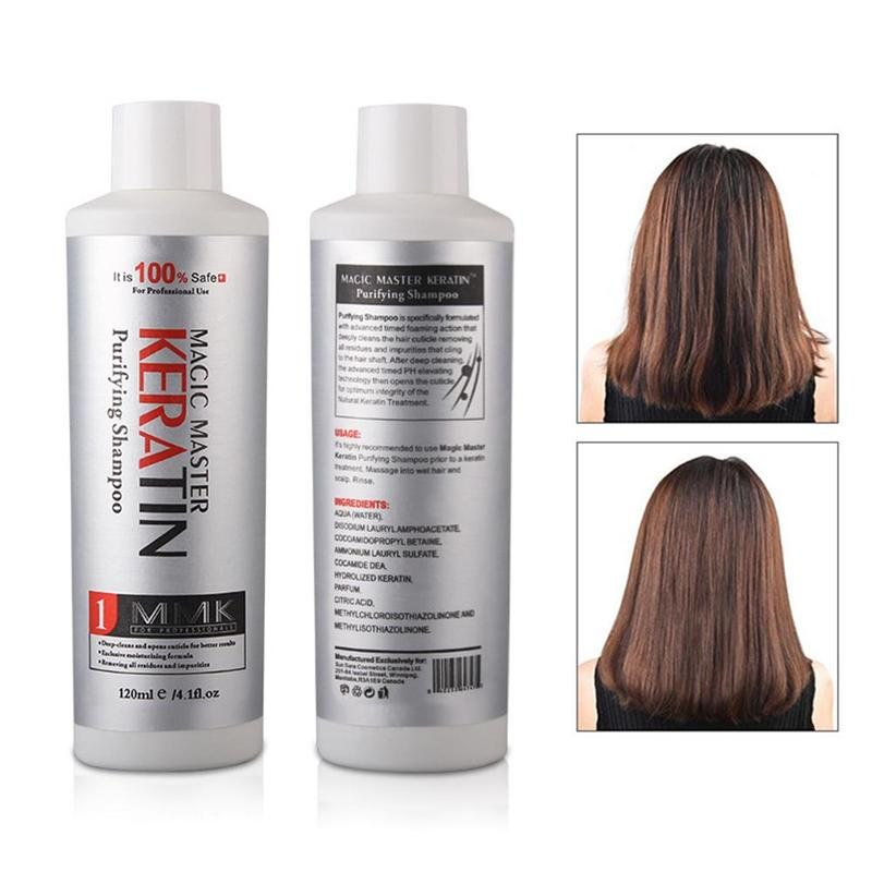 120ml Magic Master Keratin Hair Treatment Shampoo With Good Smelling Straighten Repair Damaged Firzzy Hair Moisture Hair Shampoo