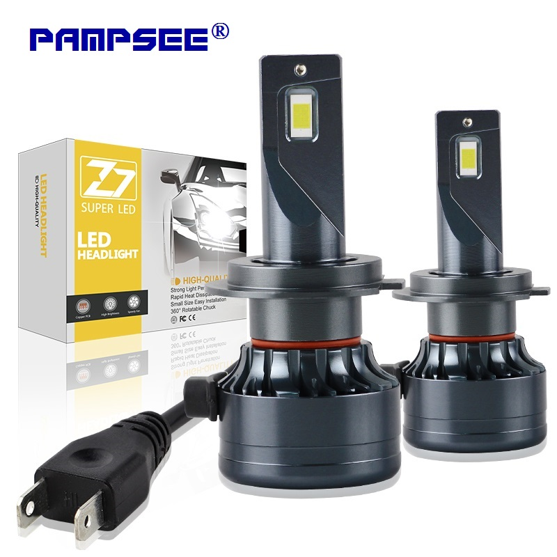 PAMPSEE H7 <font><b>LED</b></font> <font><b>H4</b></font> H11 H8 H1 HB3 9005 9006 <font><b>LED</b></font> HB3 Canbus Headlight Bulb Car Light ZES 16000LM <font><b>110W</b></font> 4300K 6500K 8000K 12V Lamp image