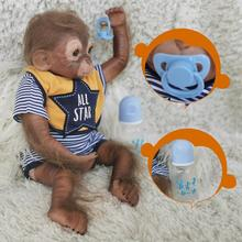 Rebirth Doll Amazon Simulation Monkey Vinyl Baby Toy Rubber Material Comfortable And Soft Puppet Doll