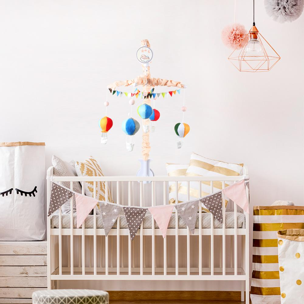 Handmade Felt Elephant Baby Mobile With Music Box Crib Arm Hanger