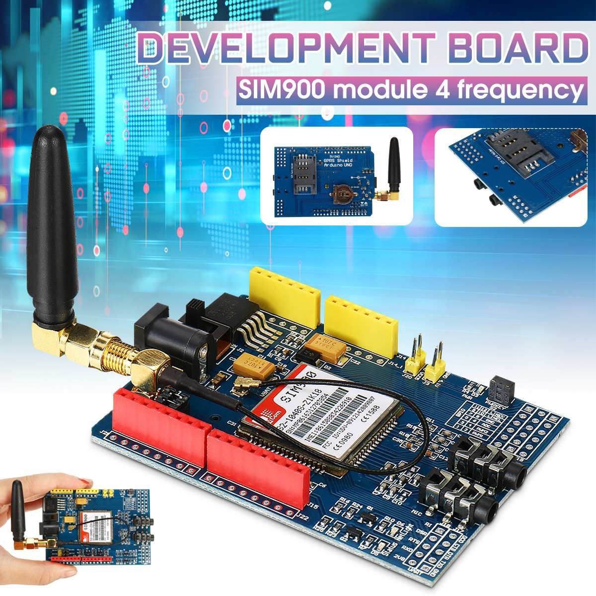 SIM900 Module 4-band Development Board For GSM GPRS SMS Wireless Data Over TC35i