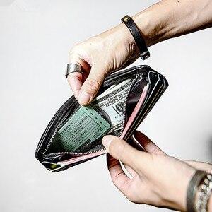 Image 5 - Pndme carteira masculina de couro legítimo, carteira masculina compacta feita em couro legítimo, macia e casual, simples, para jovens, feita em couro de vaca bolsa de mão