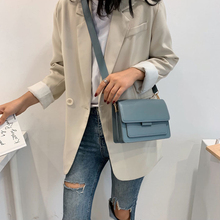 Fashion Woman Shoulder Bag PU Leather Youth Ladies Small Square Bag light Wild Simple Female Daily Messenger Bag Waterproof Blue