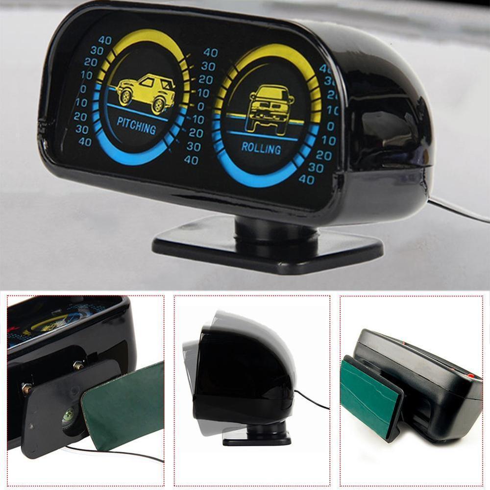 Hot Car Inclinometer Black Pitching Rolling Meter Level Gauge Balance Instrument