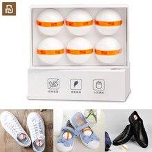 6 sztuk Youpin czyste świeże buty dezodorant suche dezodorujący przełącznik oczyszczania powietrza piłka buty Eliminator na kapcie domowe