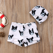Meihuida Summer Kids Baby Boys Swimsuit Swimwear Bulldog Print Swimming Swim Shorts Bathing