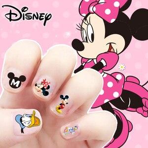 Disney dzieci naklejki do paznokci Mickey Minnie Mouse naklejki do makijażu paznokci zabawki Disney księżniczka dziewczyny naklejki zabawki prezent urodzinowy dla dzieci