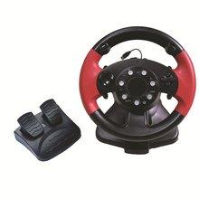 Gaming-Control Steering-Wheel Gamepad-Plug Vibration Computer And Play Rotatable Universal
