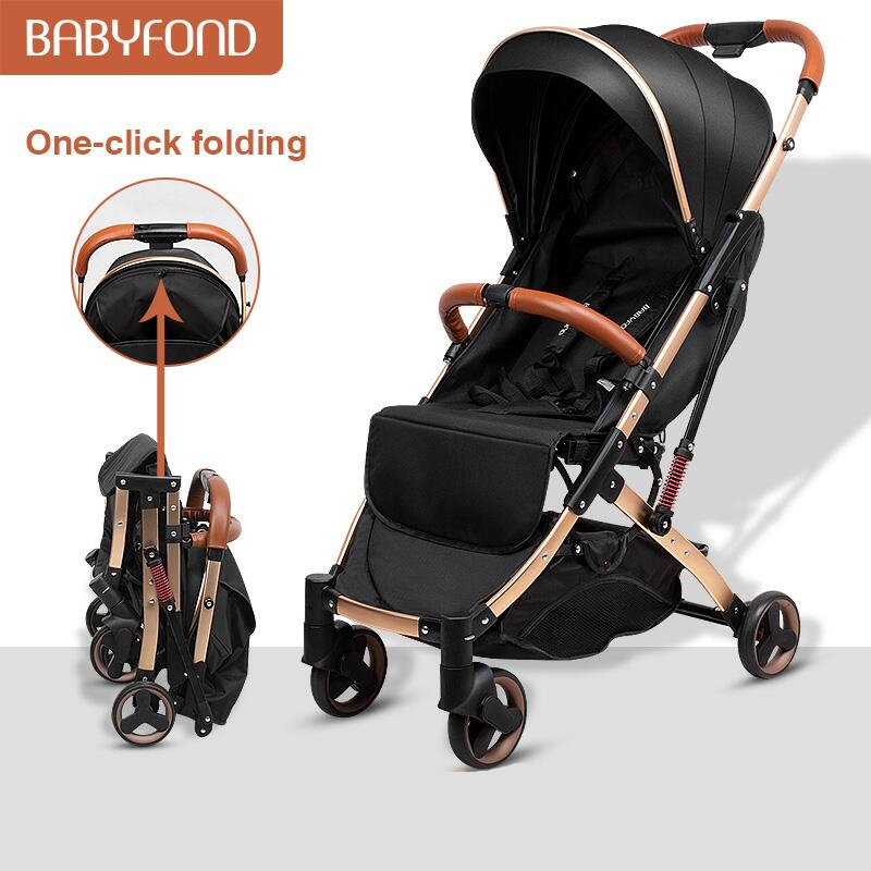 5.8 kg Light aluminium alloy stroller gold frame car Portable fold Umbrella baby stroller Newborn Travelling Pram on plane gifts
