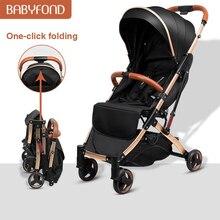 Cochecito liviano Babyfond de 5,8 kg con marco dorado para coche, paraguas portátil para cochecito de bebé, cochecito para recién nacido para viajar, regalos de avión