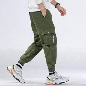 Image 5 - กางเกงCargoผู้ชายหลายกระเป๋าผ้าฝ้ายCamo Camouflage PantalonesยุทธวิธีMilitar Jogger Sweatpantsวัยรุ่น 7XL 8XLกางเกงชาย