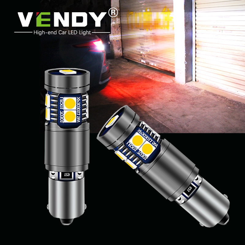 1pcs BA9S BAX9S BAY9S H21W H6W Car LED Reverse Light Canbus Bulb For Audi A3 R8 S3 Bmw X3 X6 Volvo C70 S60 Vw Beetle Touareg Cc