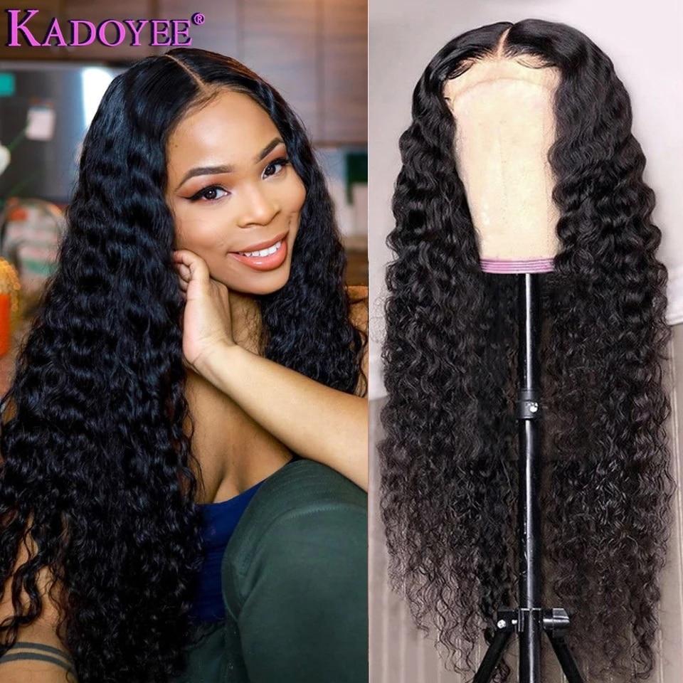 Парики из человеческих волос с глубокой волной, парик на сетке 4x4, предварительно выщипанный для женщин, малазия, Remy, парик на сетке с глубоко...