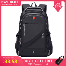 Travel Backpack Mochila School-Bag 17inch Laptop Usb-Charging Oxford Women Rucksack Swiss