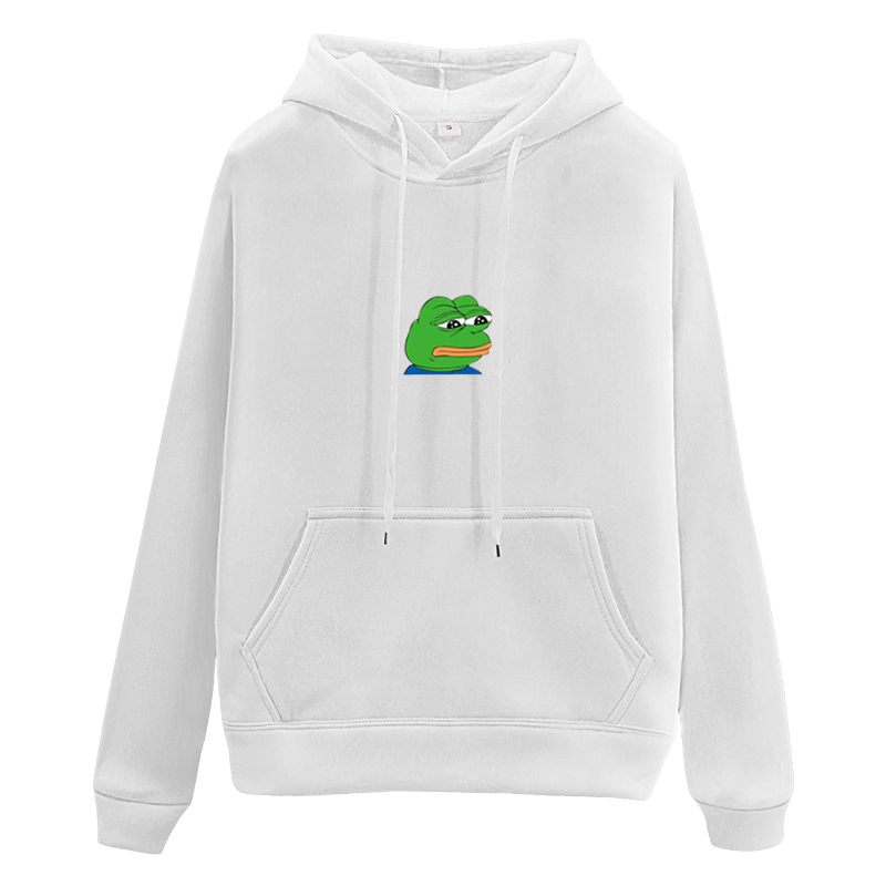 Pepe Sad Frog Hoodie Women Clothes Men Emoticons Print Hooded Fun Strange Clothing Casual Student Hoodies Tops Sweatwear