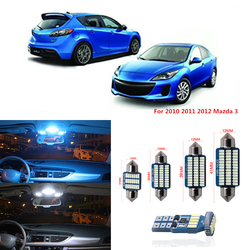 9pcs Canbus T10 Car LED Light Bulbs Interior Kit For 2010 2011 2012 Mazda 3 Sedan or Hatchback Map Dome License Plate Lamp 12V