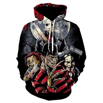 New Horror Movie Chucky 3d Printed Hoodie Winter Men/women Sweatshirts Harajuku Hooded Pullover Fashion Clothing Coat