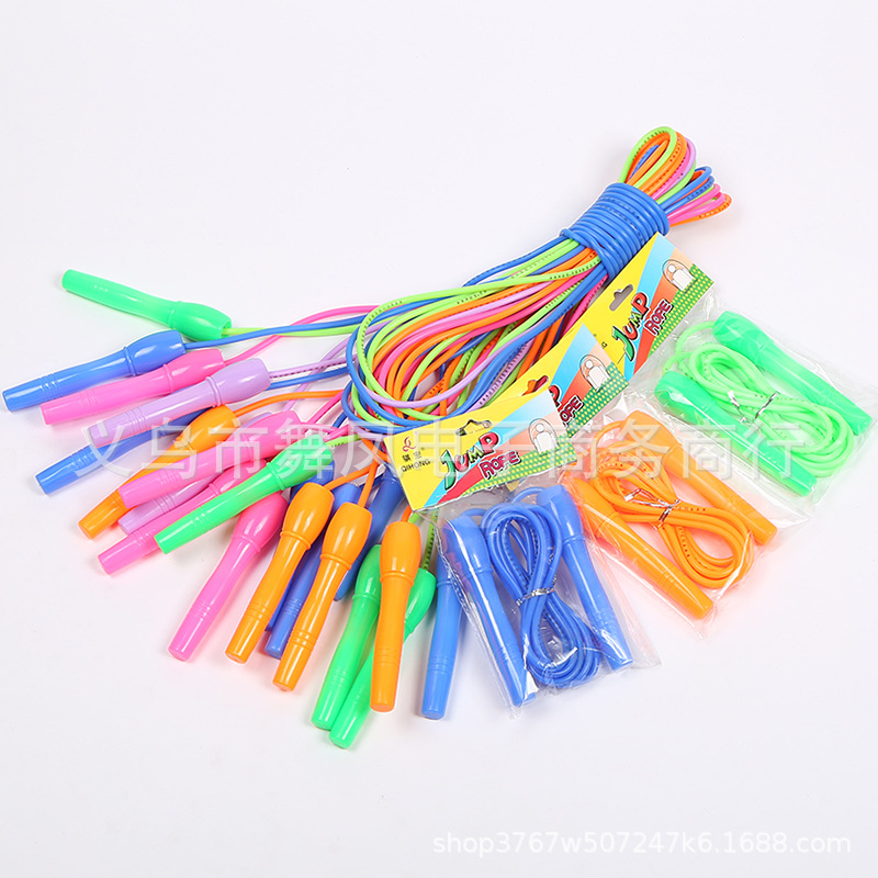 New Style Color Rubber Jump Rope Students Pu Jump Rope Children Training Sports Fitness Supplies Manufacturers Currently Availab