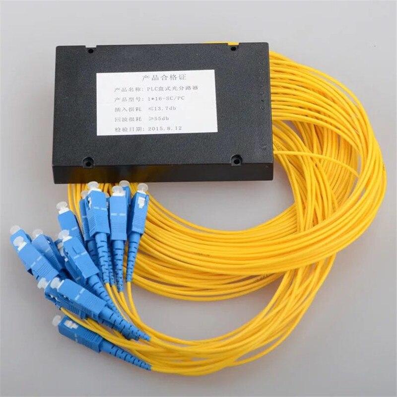 Free Shipping SC/ UPC 1x16  PLC Optical Splitter SC /UPC 1x16 PLC Fiber Optical Splitter Single Mode Fiber Optical Splitter