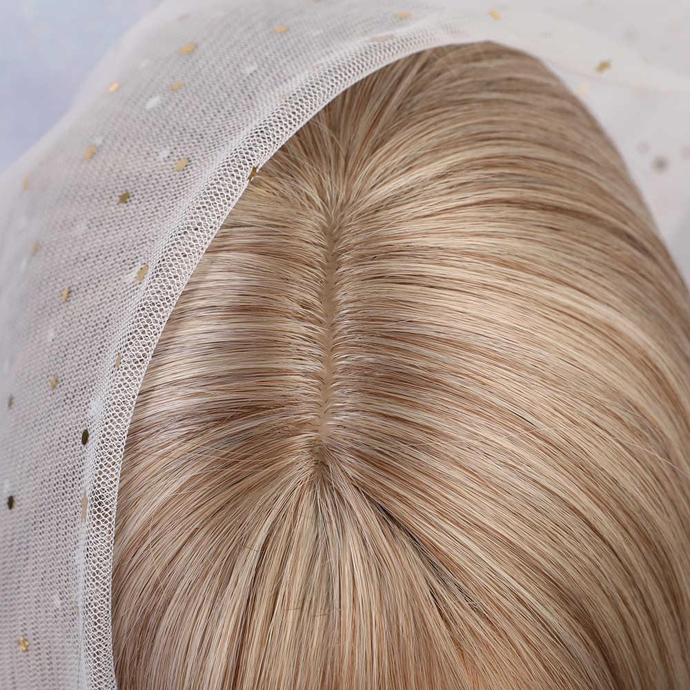 Bionda Unicorno Sintetico Ondulate Lunghe Parrucche con la Frangetta Biondo Chiaro Cosplay Parrucca Del Partito per le Donne Bianche 8 colori