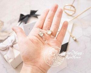 Image 5 - Sailor Mond Saturn Schwarz Dame 925 Silber Shiny Ohrring Ohr Stud Clip Handmade Cosplay Zubehör Schmuck Requisiten Geschenk für Mädchen