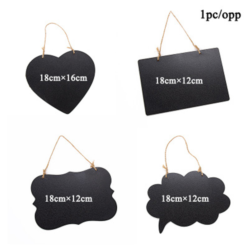 Slate Sign Double Sided Message Board With Hanging Rope Party Direction Signs Multifunctional NC99